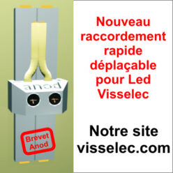 Branchement ruban et spot Led